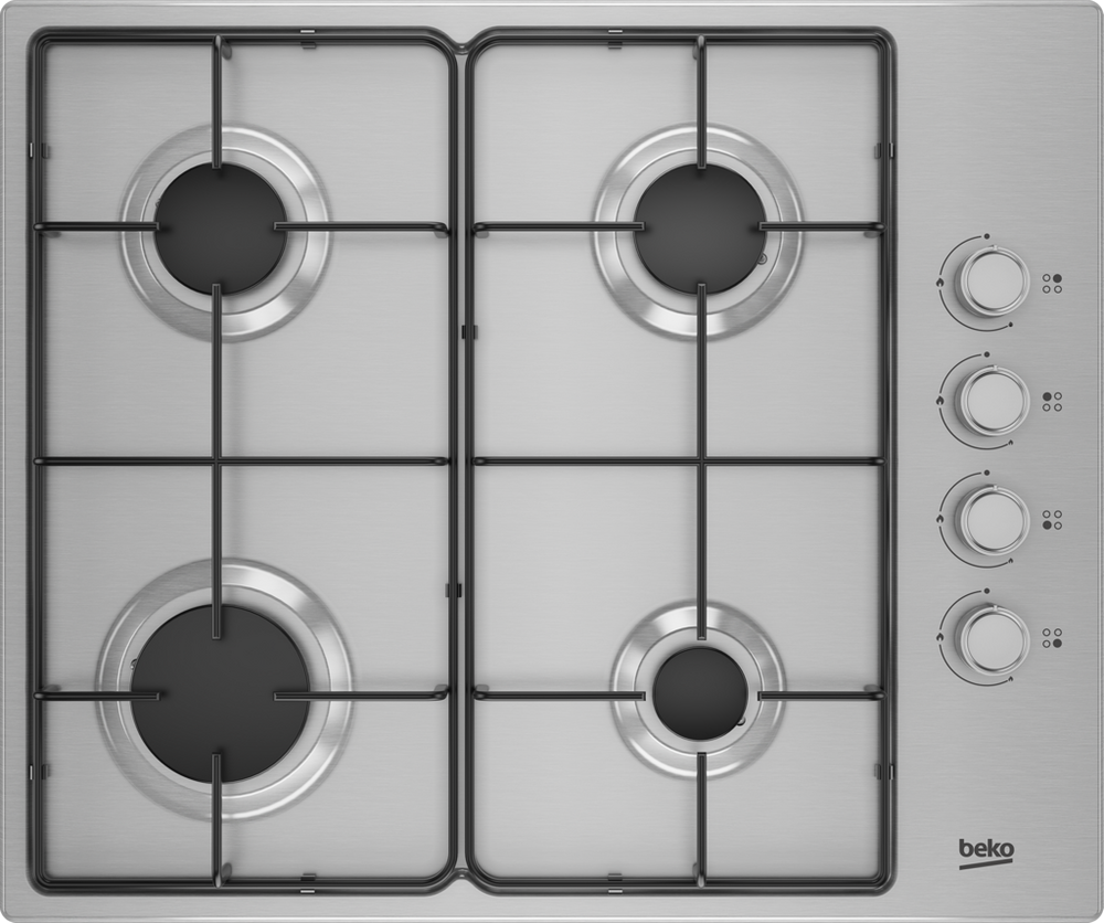 Beko CIHYG21SX  60cm Gas Hob in Stainless Steel