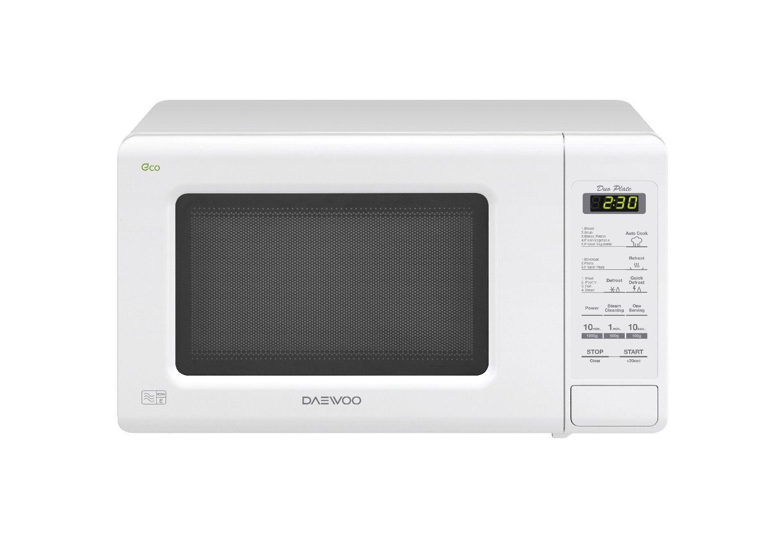 Daewoo Kor6m1r 800 Watt Microwave Oven In White