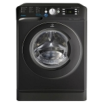 Indesit BWE91484XK 9kg Load 1400 Spin Speed Washing Machine With Rapid 30 Minute Wash  IN BLACK. 1 ONLY AT THIS PRICE.