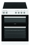 Simfer SCOD62CEW 60cm Ceramic Topped Double Oven Electric Cooker in White