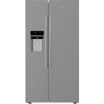 Blomberg KWD253PX Non Plumbed Water & Ice American Fridge Freezer in  Brushed Steel with 3 Year Warranty