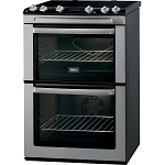 Zanussi ZCI660MXC Induction Hob 60cm Wide Double Oven Electric Cooker  in Stainless Steel + 2 Year Zanussi Guarantee