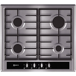 Neff T23S36N0GB Built in Stainless Steel Gas Hob