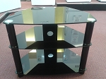 USED Vivanco BRISA 600 black glass stand suitable for 32