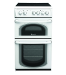 Hotpoint 50HEPS 50cm Double Oven Electric Cooker with Ceramic Hob