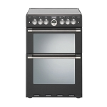 Stoves 600G Black Sterling Double Oven Gas Cooker in Black