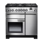 Rangemaster Professional Deluxe PDL90DFFSS 90cm Dual Fuel Range Cooker in  Stainless Steel - See this beautiful range cooker on display in our Grimsby showroom