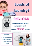 RENT this Hotpoint 9kg load 1400 spin Washing Machine - FREE repairs, FAST service, LOW Payments