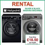 Washing Machine Rental Match Your Kitchen with our Silver and Black Colour Options- NO REPAIR BILLS, LOW PAYMENTS & EASY UPGRADES!