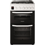 Hotpoint HD5G00CCW 50cm Double Oven Gas Cooker In WHITE