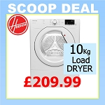 **SCOOP DEAL** Hoover HLV10DG Huge Capacity 10KG Load Vented Tumble Dryer With Sensordry