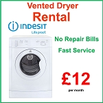 RENT this NEW Indesit 7kg Load B Energy Rated  Vented Dryer - NO REPAIR BILLS , LOW PAYMENTS