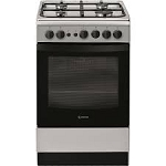 Indesit IS5G1PMSS Single Cavity Gas Cooker in Silver
