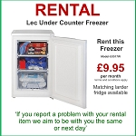 RENT this Lec 55cm Wide Freezer