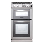 Montpellier MDG500LS 50 cm Double Oven Gas Cooker in Silver