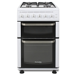 Montpellier TCG50W 50 cm Wide Twin Cavity Gas cooker in White