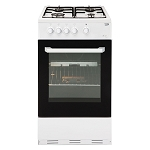 Beko BCSG50W 50cm Wide Single Cavity Gas Cooker in White