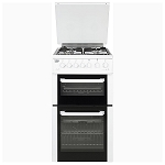 Beko BCDG504W 50cm Wide Gas Twin Cavity Cooker in White
