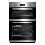 Beko CDF22309X Built In Double Stainless Steel  Fan Oven with Digital Timer and 2 Year Beko Guarantee