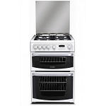 Cannon by Hotpoint CH60GCIW  Double Oven 60cm Wide Gas Cooker in White.