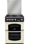 Cannon CH60GTCF by Hotpoint Double Oven 60cm Gas Cooker in Cream