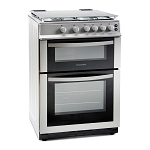 Montpellier MDG600LS 60 cm Double Oven Gas Cooker in Silver.