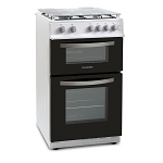 Montpellier MTG50LW 50cm Wide Twin Cavity Gas Cooker in White with a 2 Year Warranty