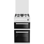 Beko EDG506W 50 cm Twin Cavity Gas Cooker with Lid