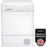 Hotpoint FETC70BP 7Kg Load Capacity Condenser Tumble Dryer in White.