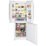 Hotpoint FFU3DW  3 door American Style 70cm wide Fridge Freezer in White