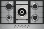 Blomberg GMB83512 75cm Wide Gas Hob in Stainless Steel