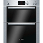 Bosch HBN13B251B Built Under Double Oven in Brushed Stainless Steel