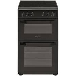 Hotpoint HD5V92KCB 50cm Twin Cavity Electric Cooker in Black