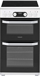 Hotpoint HD5V93CCW 50cm Double Oven Electric Cooker in White