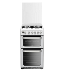 Hotpoint HUG52P Double Oven 50cm Gas Cooker in White
