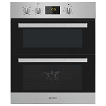 Indesit IDU63401IX Stainless Steel Built Under Double Oven