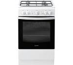 Indesit IS5G1KMW Single Cavity Gas Cooker in White