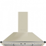 SMEG KT110P 110 CM CHIMNEY HOOD IN CREAM