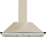 SMEG KT90P 90 CM CHIMNEY HOOD IN CREAM