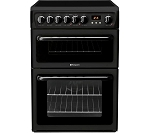 Hotpoint HAE60KS Double Oven Electric Cooker with Ceramic Hob IN BLACK