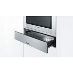 Bosch HSC140A51 14cm Stainless Steel Storage Drawer to complement Bosch Built in Single Ovens and 45cm High compact cooking appliances-1 Only ex display model