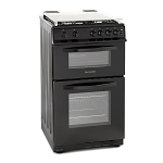 Montpellier MDG500Lk 50 cm Double Oven Gas Cooker in black