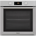 Hotpoint SA4544CIX Single Cavity Multifunction Built In Electric Oven in Stainless Steel.