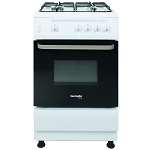 Montpellier SCG60W 60cm Wide Gas Cooker in White
