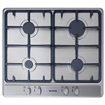 Stoves SGH600C Built In 60cm Gas Hob with Cast Iron Pan Supports-Available to order in Black or Stainless Steel