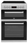 Beko KDC653S 60cm Double Oven Electric Cooker in Silver