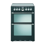 Stoves Sterling 600E Black Double Oven 60cm Electric Cooker in Black
