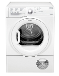Hotpoint TCFS83BGP 8kg Sensor Condenser Tumble Dryer with Clear Door .