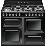 SMEG TR4110BL1 110CM VICTORIA TRADITIONAL RANGE COOKER IN BLACK