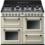 SMEG TR4110P1 110CM VICTORIA TRADITIONAL RANGE COOKER IN CREAM